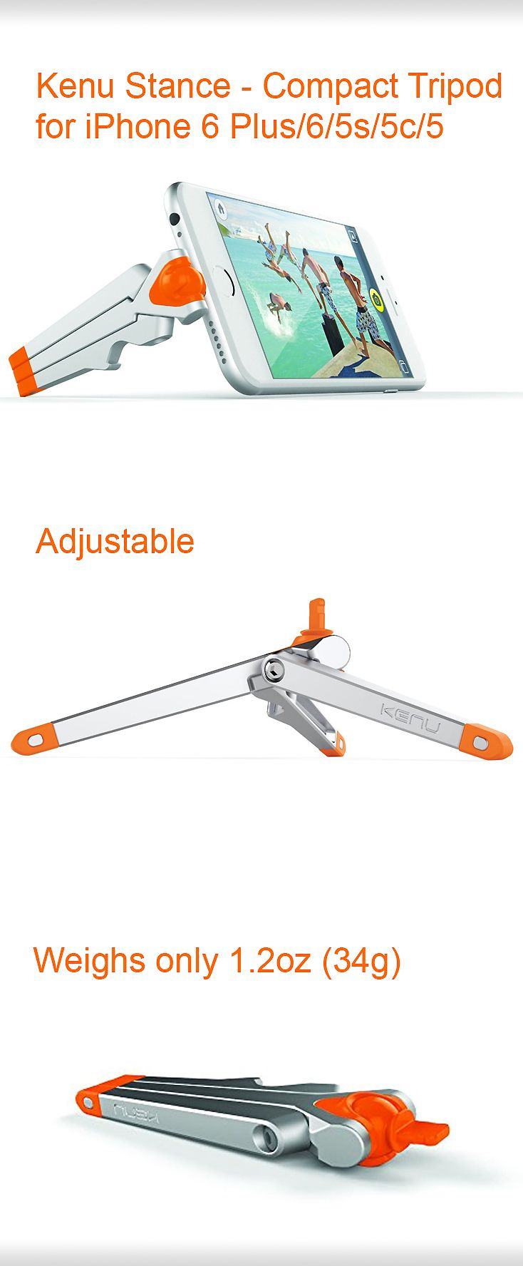 The Kenu Stance tripod for iphone 5 + take awesome pictures any place with this tiny tripod