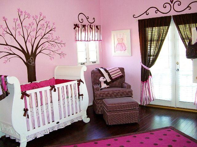 peinture chambre bébé fille rose et gris | déco | Pinterest