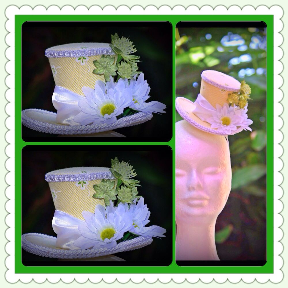Mini top hat made by www.curiouserandcuriouser.net.au