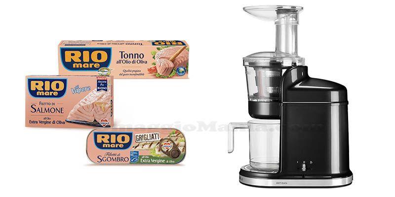 Con Rio Mare vinci ogni settimana estrattore Kitchen Aid Artisan - Philips Cucina Küchenmaschine