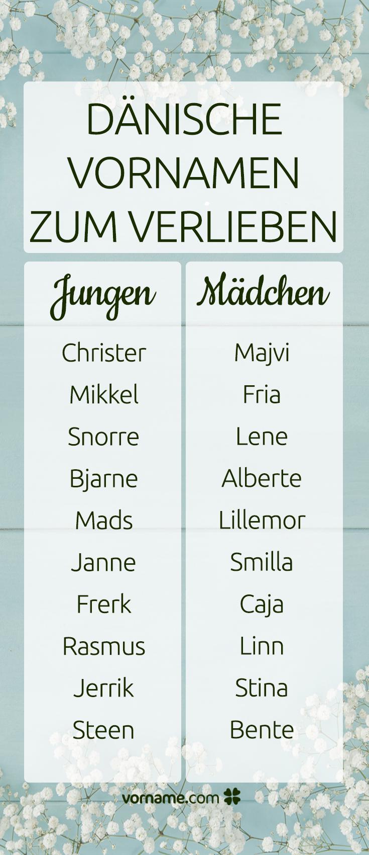 20 dänische Vornamen zum Verlieben | Vornamen für jungen ...  20 dänische Vo...