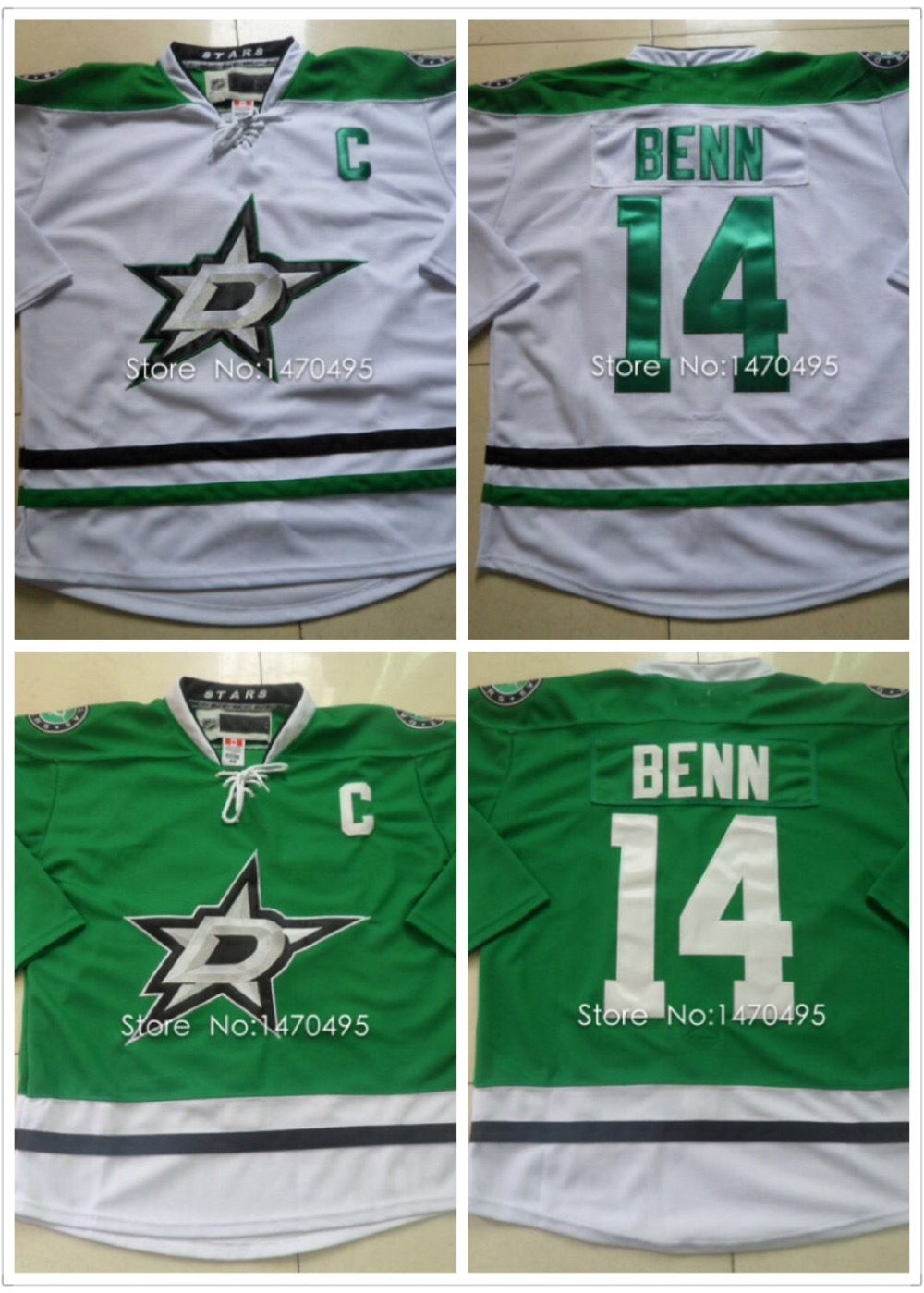 finest selection 8244d 4c8cd Free Shipping Stitched Authentic Jerseys #14 Jamie Benn ...