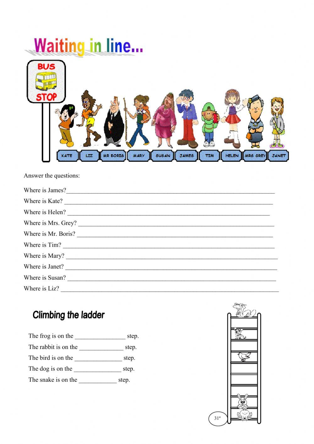 Ordinal numbers interactive and downloadable worksheet