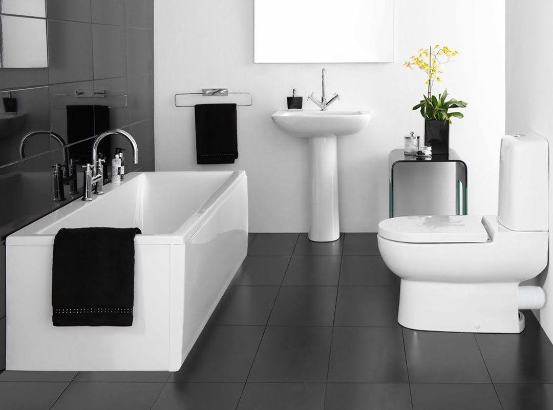 Black And White Bathroom Tile Blackandwhitebathrooms Bathroom Design Small Small Bathroom Decor Bathrooms Remodel