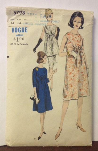 ff4d9565c394b 1960s vintage vogue maternity dress. | SEWING, I LOVE | Maternity ...