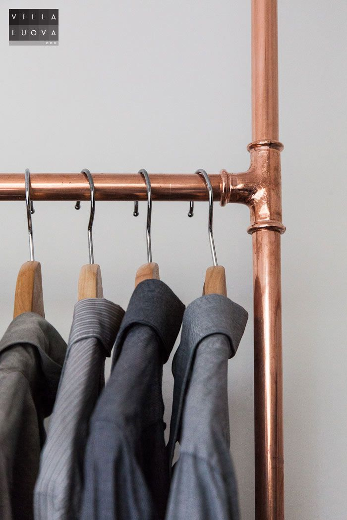 Diy Clothes Rack From Copper Pipe Villa Luova Our