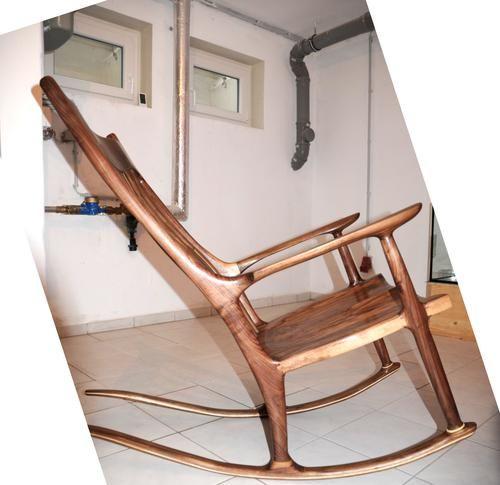 Hessam Sane S Sam Maloof Style Sculpted Rocking Chair Rocking Chair Sam Maloof Chair