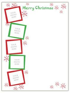Delightful Our Free Christmas Letter Template Designs Feature Colorful Borders, Pretty  Frames To Put Family Photos In, And Plenty Of Space For Writing Your Yearly  ... Within Christmas Letter Template Word Free