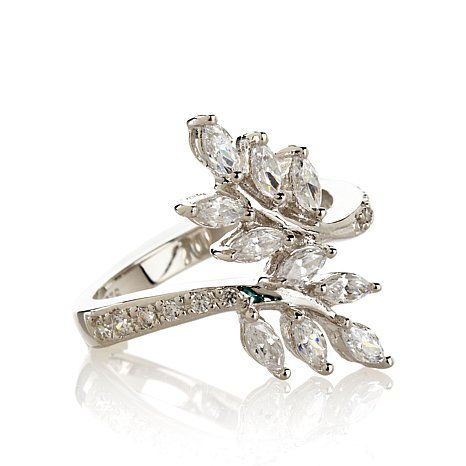 113ct Absolute LeafDesign Marquise Pav Bypass Ring Glitz