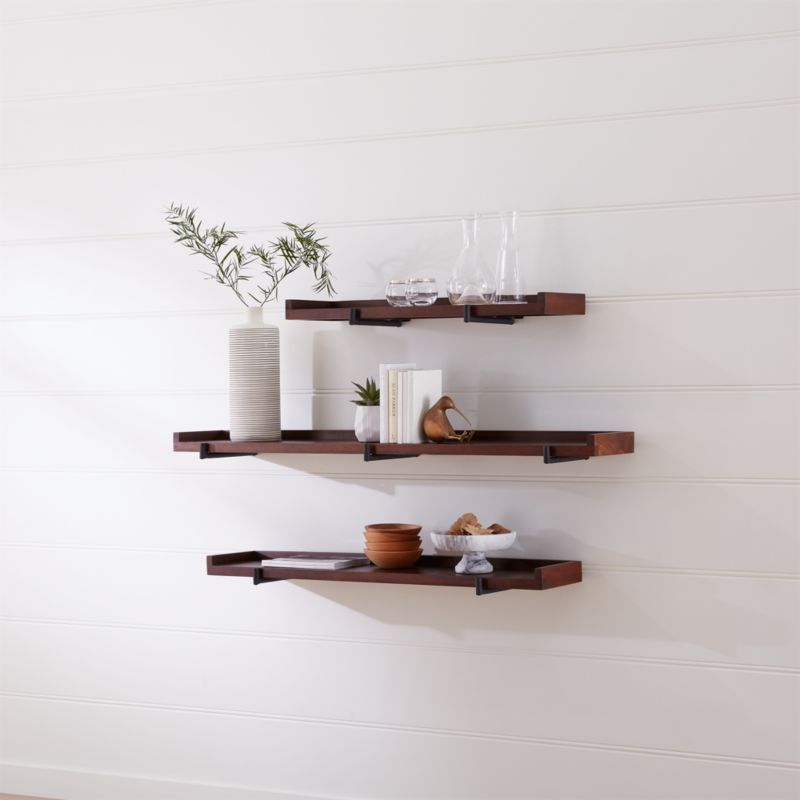 Shop Beckett Wall Shelf Wide Enough For Books Pictures Frames And Vases This Wall Mounted Shelf Frees Up Floor Spa Shelves Wall Shelves Wall Mounted Shelves