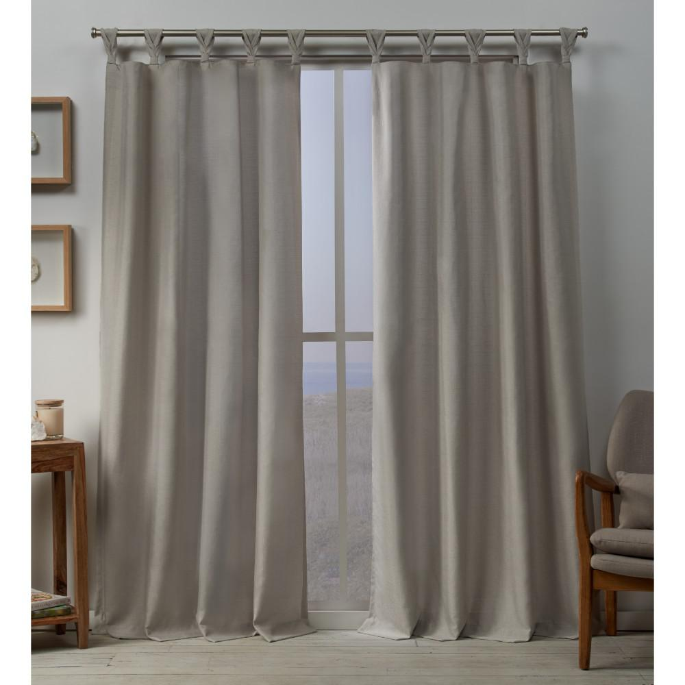 Exclusive Home Curtains Loha 54 In W X 96 In L Linen Blend