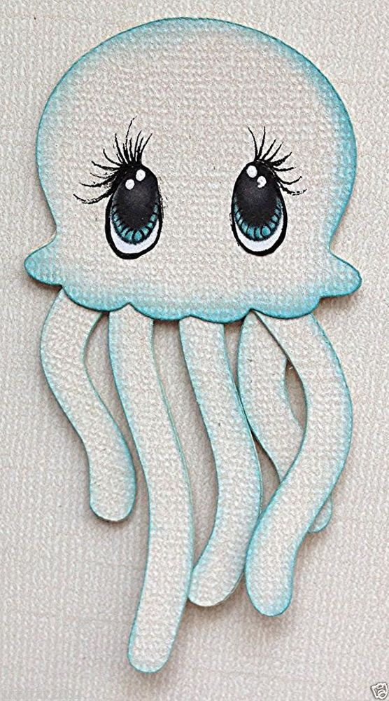 PREMADE MARINE PAL JELLY FISH ANIMAL PAPER PIECING BY MY TEAR BEARS KIRA