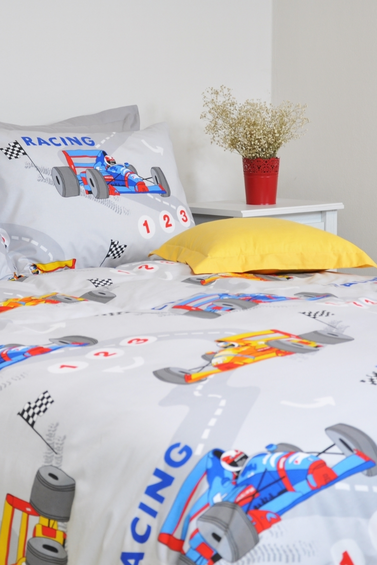 Race Car Duvet Cover Set Twin Twin Xl Full Queen Gray Blue Etsy Duvet Cover Sets Car Bed Set Boys Bedding Sets