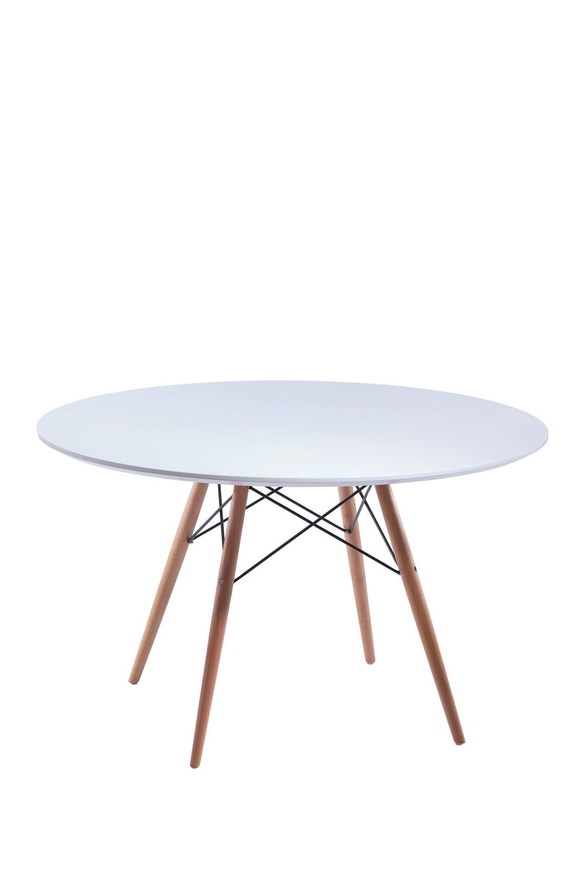 Mesa Tower Wood Table Eames Dining White Round Dining Table