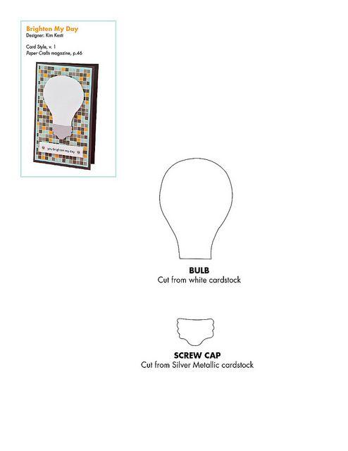 Free lightbulb pattern   PaperCraft Templates   Pinterest ...
