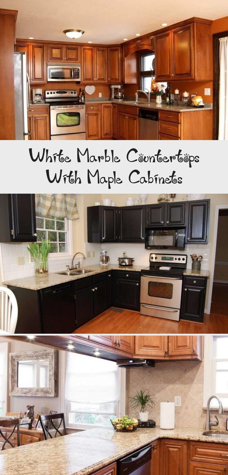 White Marble Countertops With Maple Cabinets | Maple ... on Maple Cabinets With White Granite Countertops  id=91484