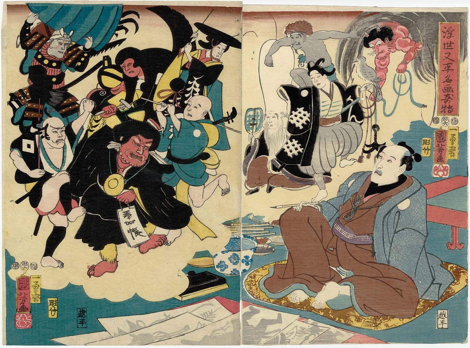 Miraculous Paintings By Ukiyo Matabei Ukiyo Matabei Meiga Kitoku Ukiyoe Japanese Prints