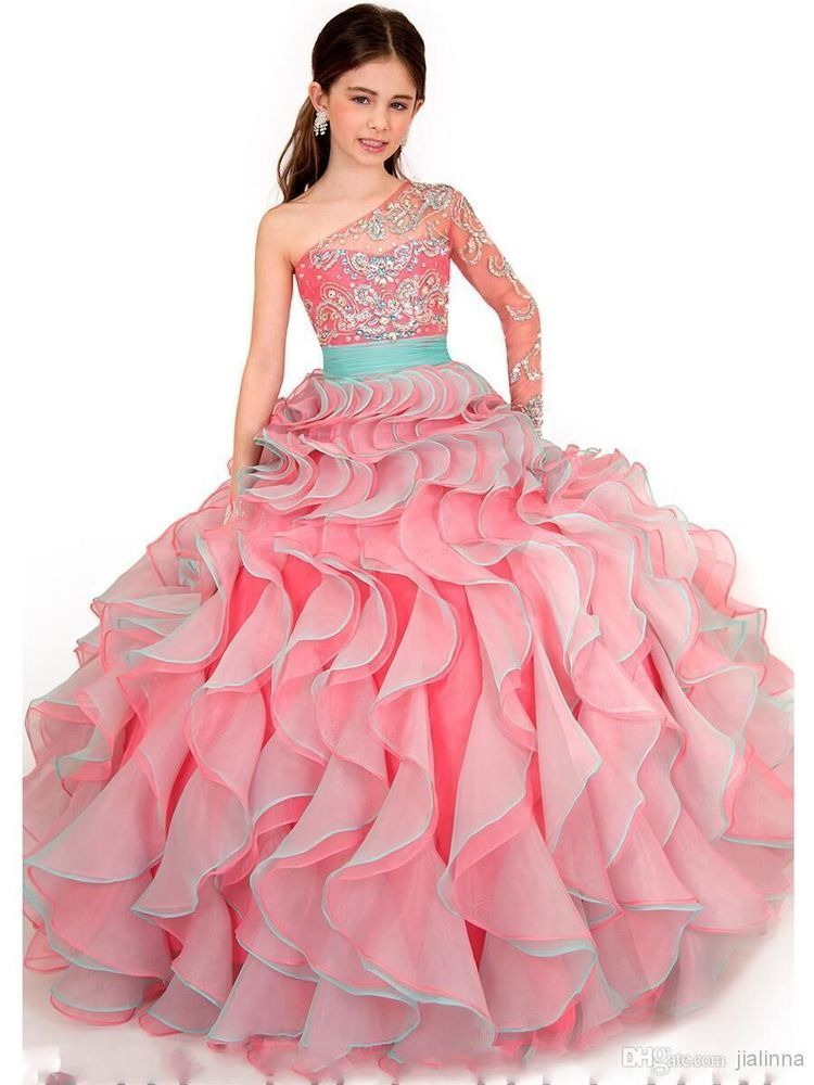 New Flower Fashion Girls Pageant Dresses Beauty Glitz Gown Custom ...