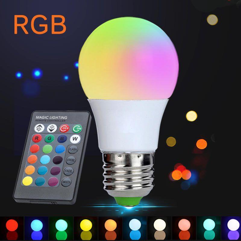 Led Bulb E27 Rgb 16 Color Led Light Brightness Christmas Bubble
