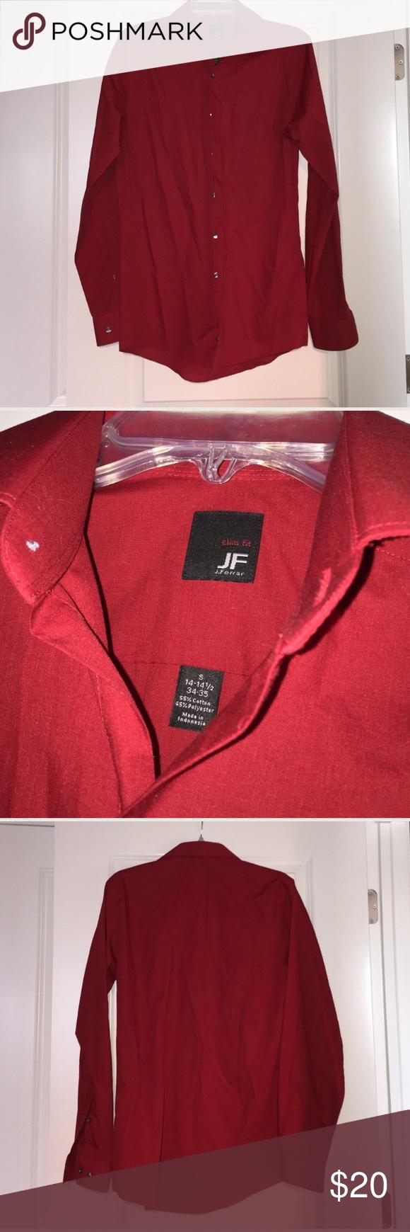 TWO men's button down shirts - Puritan, J.Ferrar TWO men's button down shirts! EUC Men's Puritan plaid dress shirt size S 34-36 and EUC Men's J.Ferrar red dress shirt size S 14-14.5 Slim Fit. NO wear or damage! Comes from a smoke free home, ships in one business day, thank you! jf j.ferrar Shirts Casual Button Down Shirts