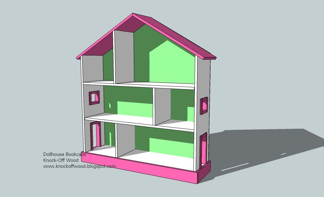 PLAN The Dollhouse Bookcase Knock Off Of Pottery Barn Kids FURNITURE HACKED