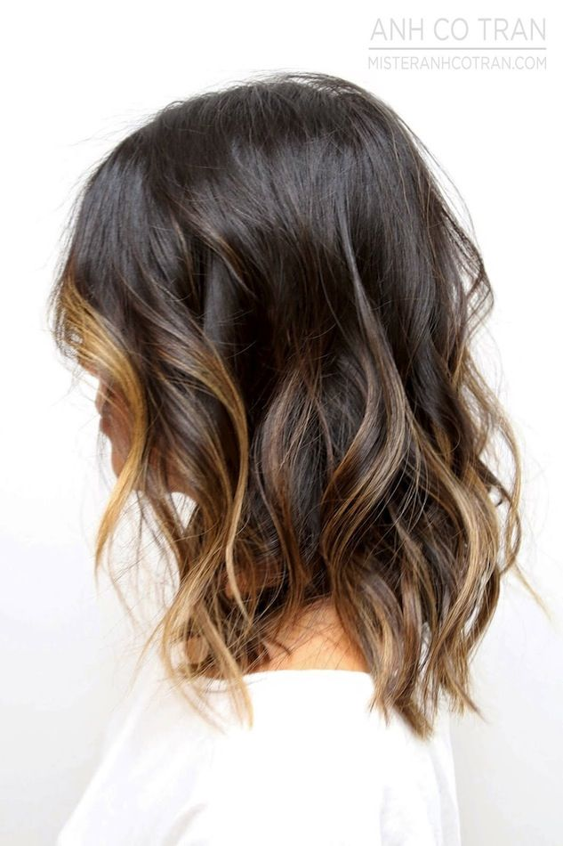 Hair inspiration beach waves with subtle ombr highlights for Ombre mittellang