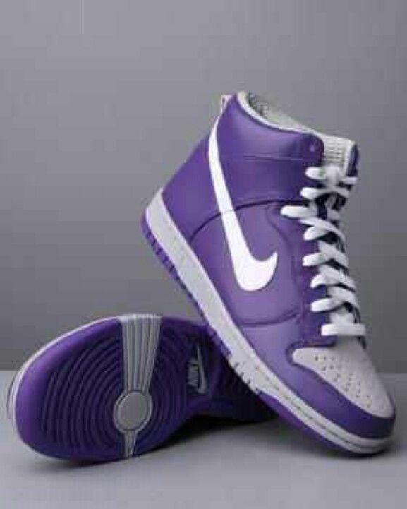 san francisco 26291 81b9b Purple Nike High Tops OMG!!!
