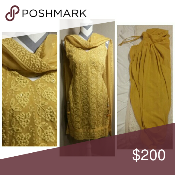 Yellow salwar kameez One of my favorites All 3 pieces Tops