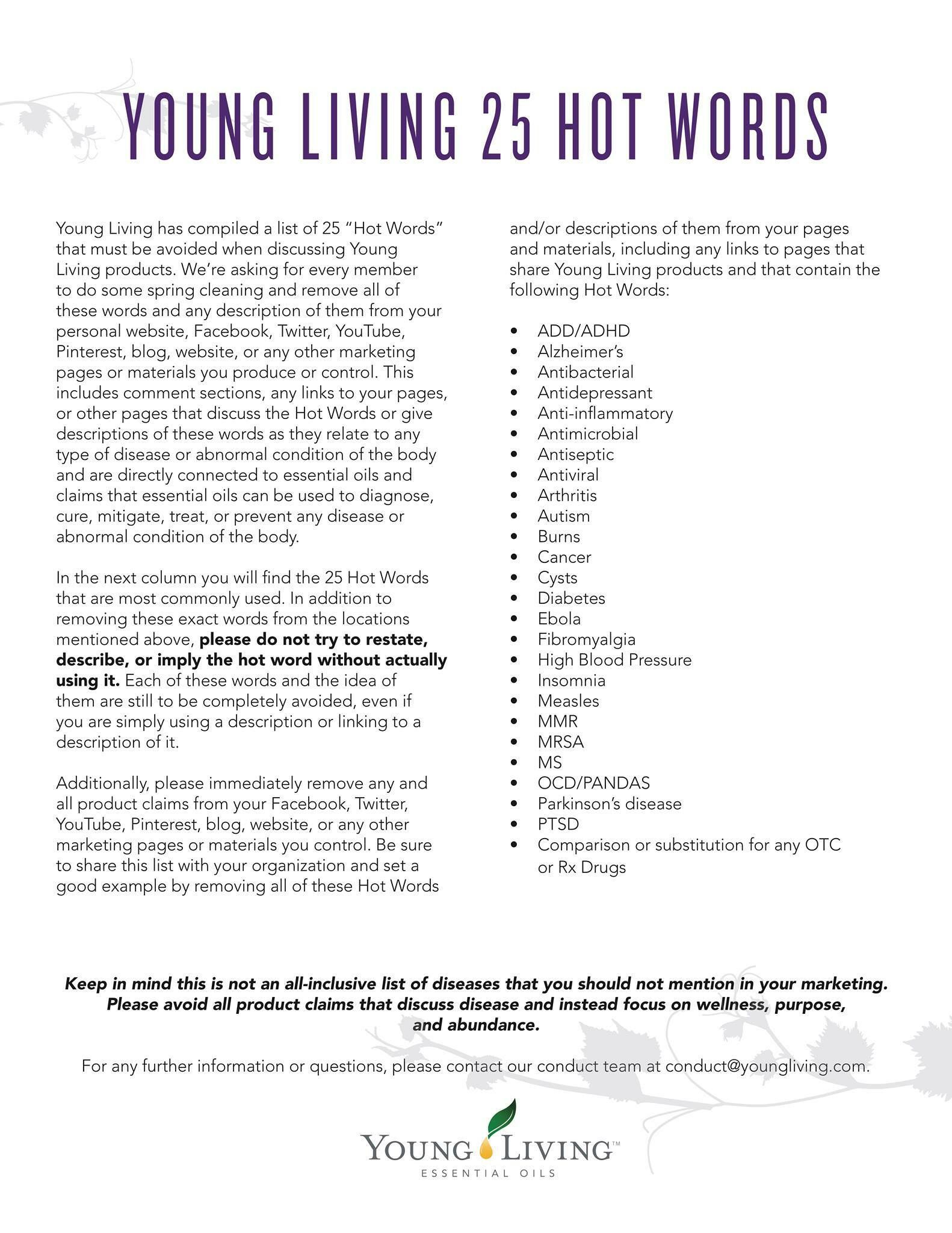 25 Hot Words Young Living  Resume Hot Words