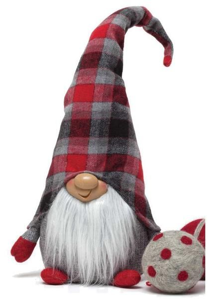 """Sit this little guy anywhere for a whimsical touch of Christmas. Measures 21""""H."""