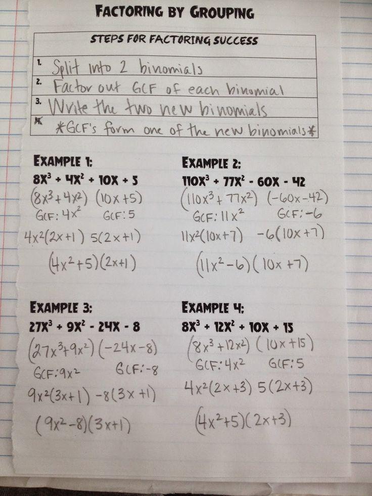 Making Mathematics Magical Factoring By Grouping Algebra 1