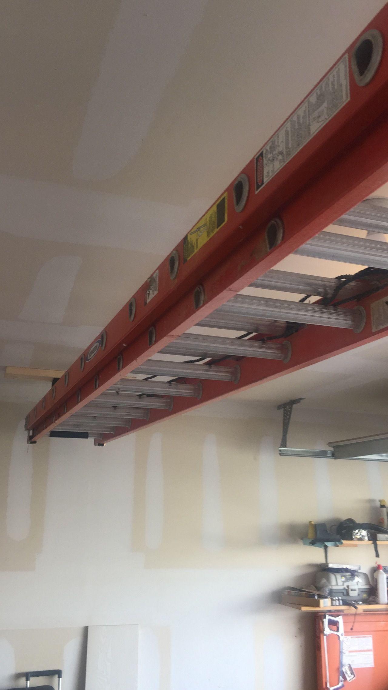 Ceiling Ladder Rack Garage Storage Overhead Garage Storage