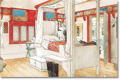 Swedish Country Style: Carl Larssonu0027s Bedroom, ...