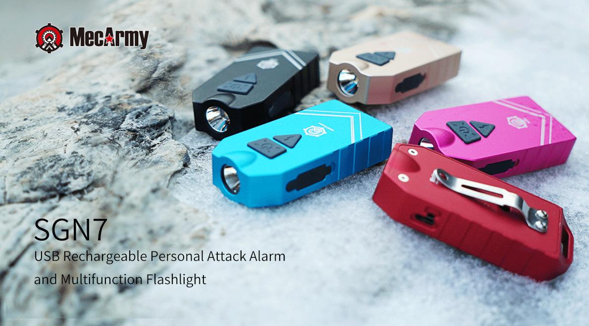 MecArmy SGN7 Aufladbare Persönliche Alarm Lampe Mit 550 Lumen LED Lampen  Taktische Lampen