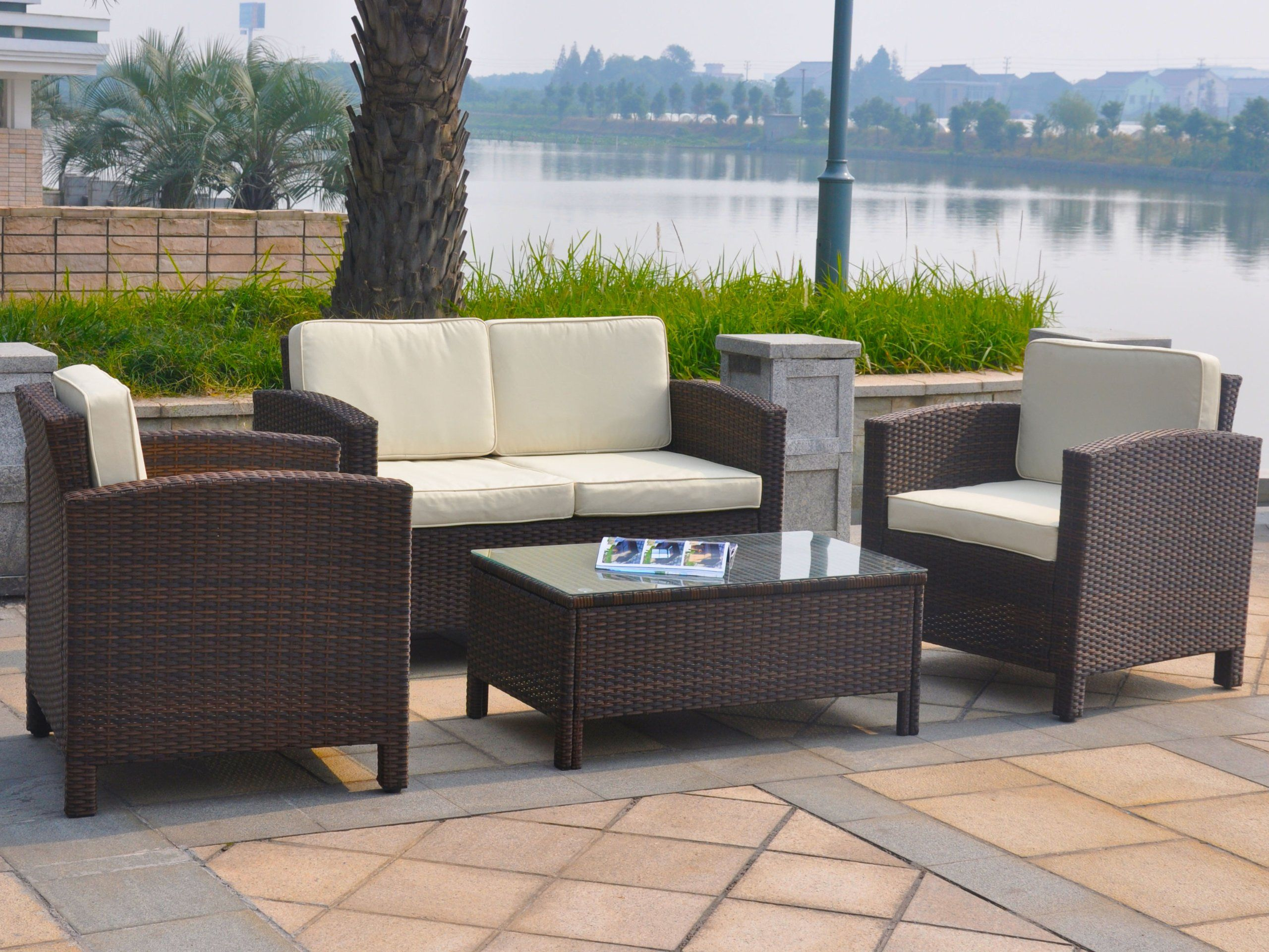 Loungemöbel Rattan Amazon De 13tlg Deluxe Lounge Set Gruppe Garnitur Gartenmöbel