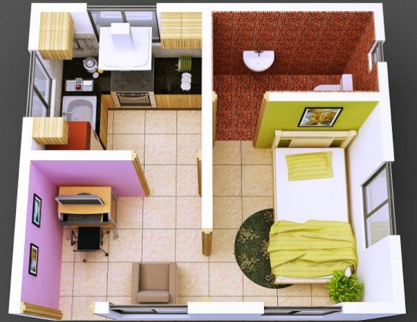Desain denah rumah mini type 27 tampak luas denah rumah minimalis desain denah rumah mini type 27 tampak luas malvernweather Choice Image