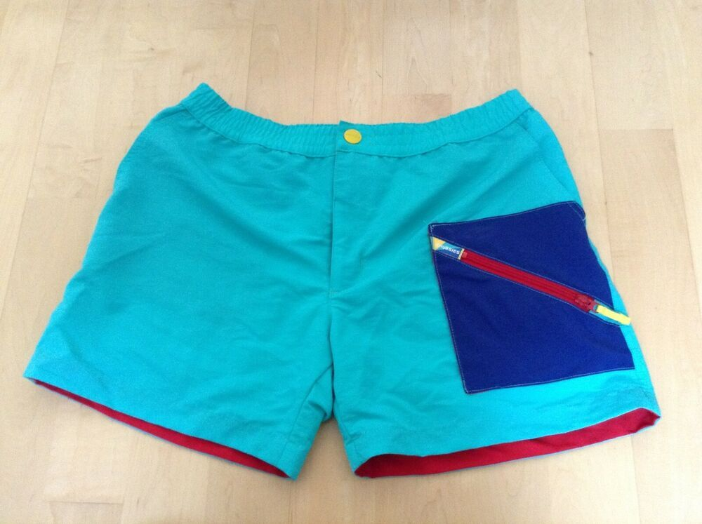 Chubbies Shorts Mens Large Made In Usa Retro 80 S Cool Color Rare Fashion Clothing Shoes Accessorie Chubbies Shorts Casual Shorts Men Light Blue Shorts