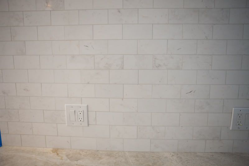 Backsplash Taj Mahal Counter With Daltile Subway Tile