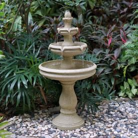 Garden Treasures 45 7 In Resin Tiered Outdoor Fountain At 400 x 300