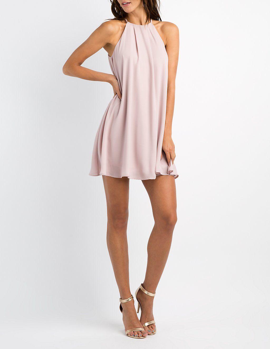 18331857bd Bib Neck Shift Dress