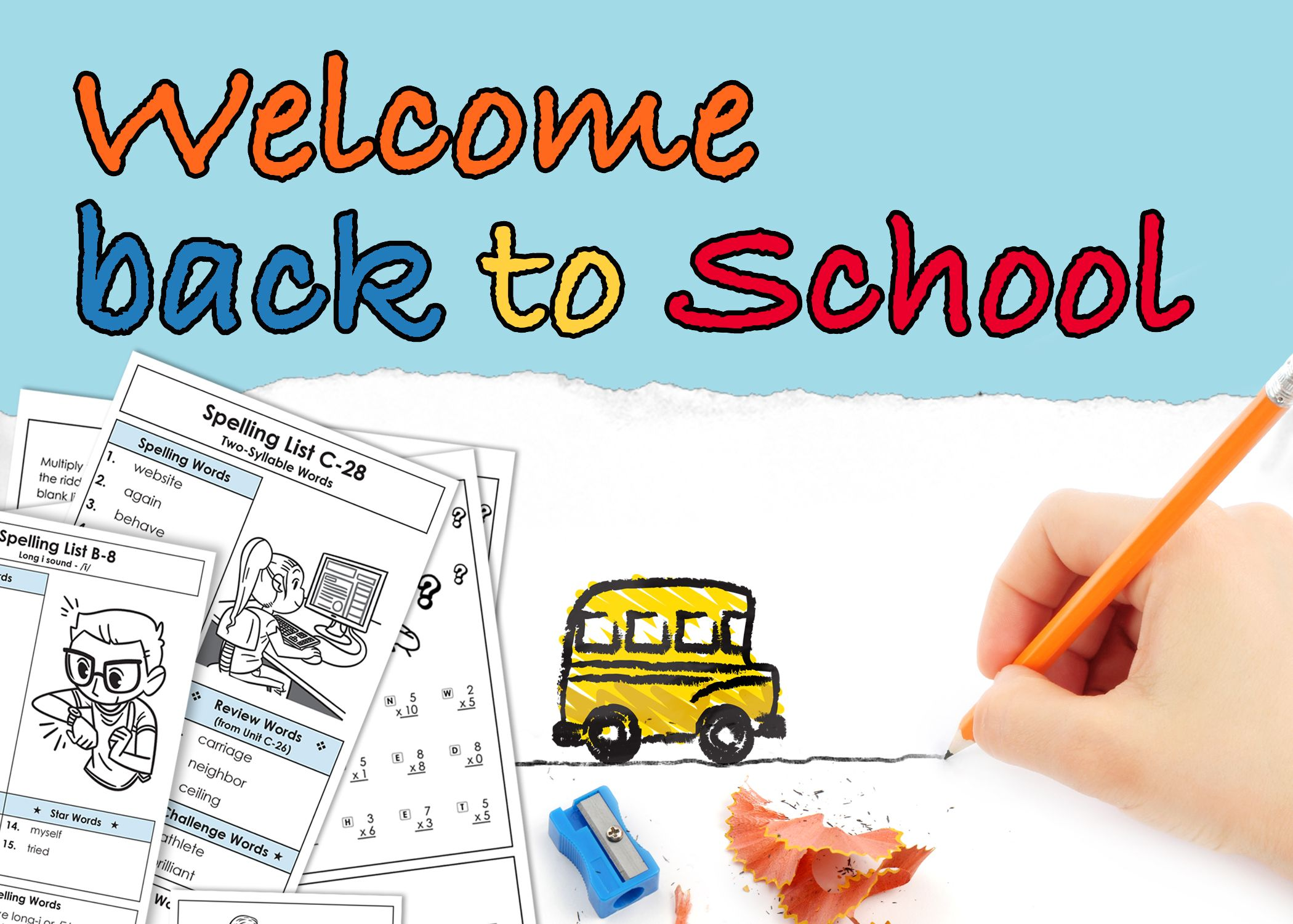 Welcome back to school! Super Teacher Worksheets is here to help you ...