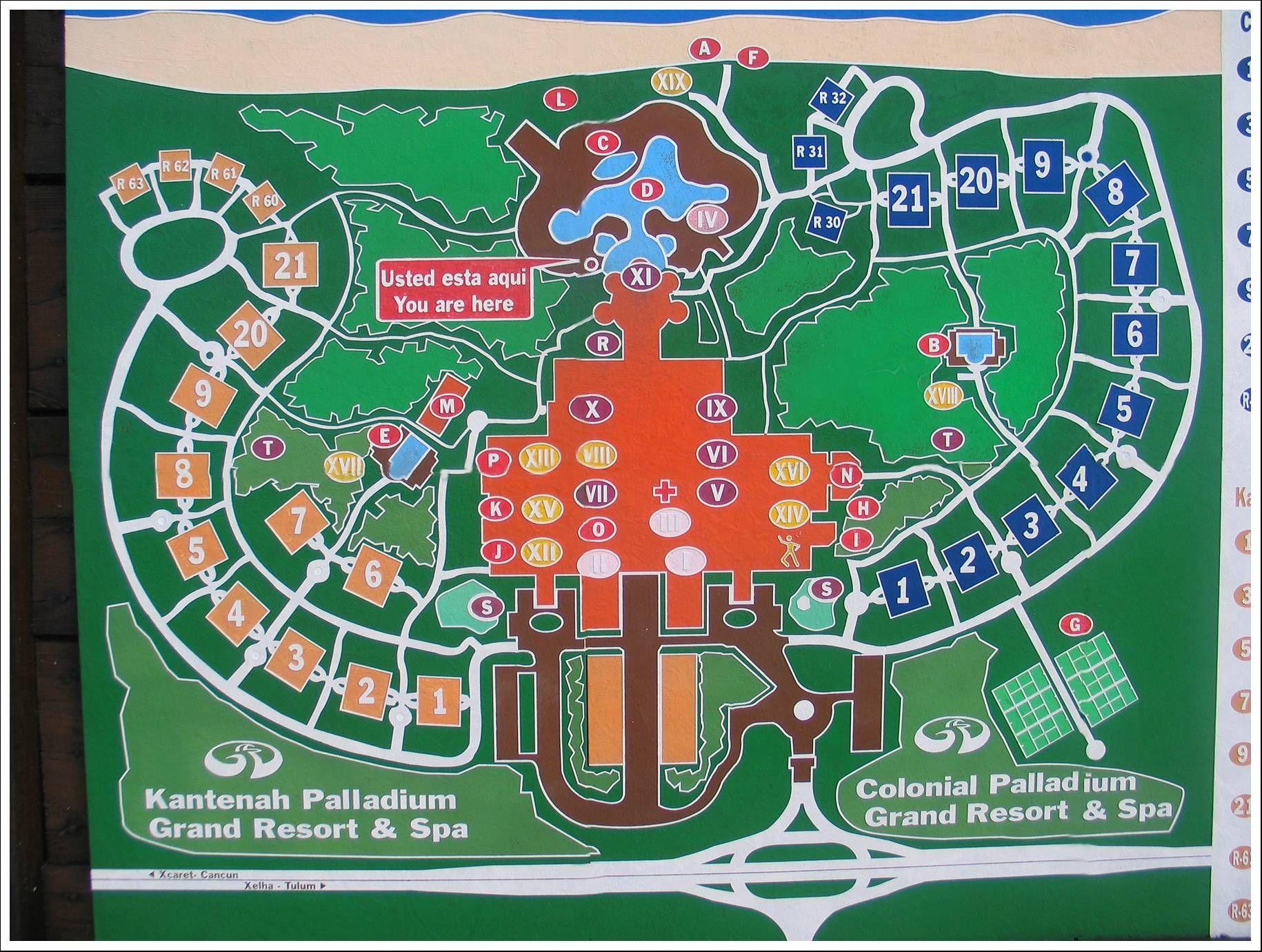 Grand Palladium Kantenah Resort Map Bing Images Mexico
