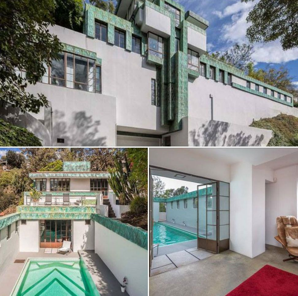 Lloyd Wright S Samuel Novarro House In Los Feliz California Frank Lloyd Wright Homes Art Deco Home Architecture