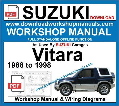 Suzuki Vitara Workshop Manual Repair Manuals Workshop Suzuki