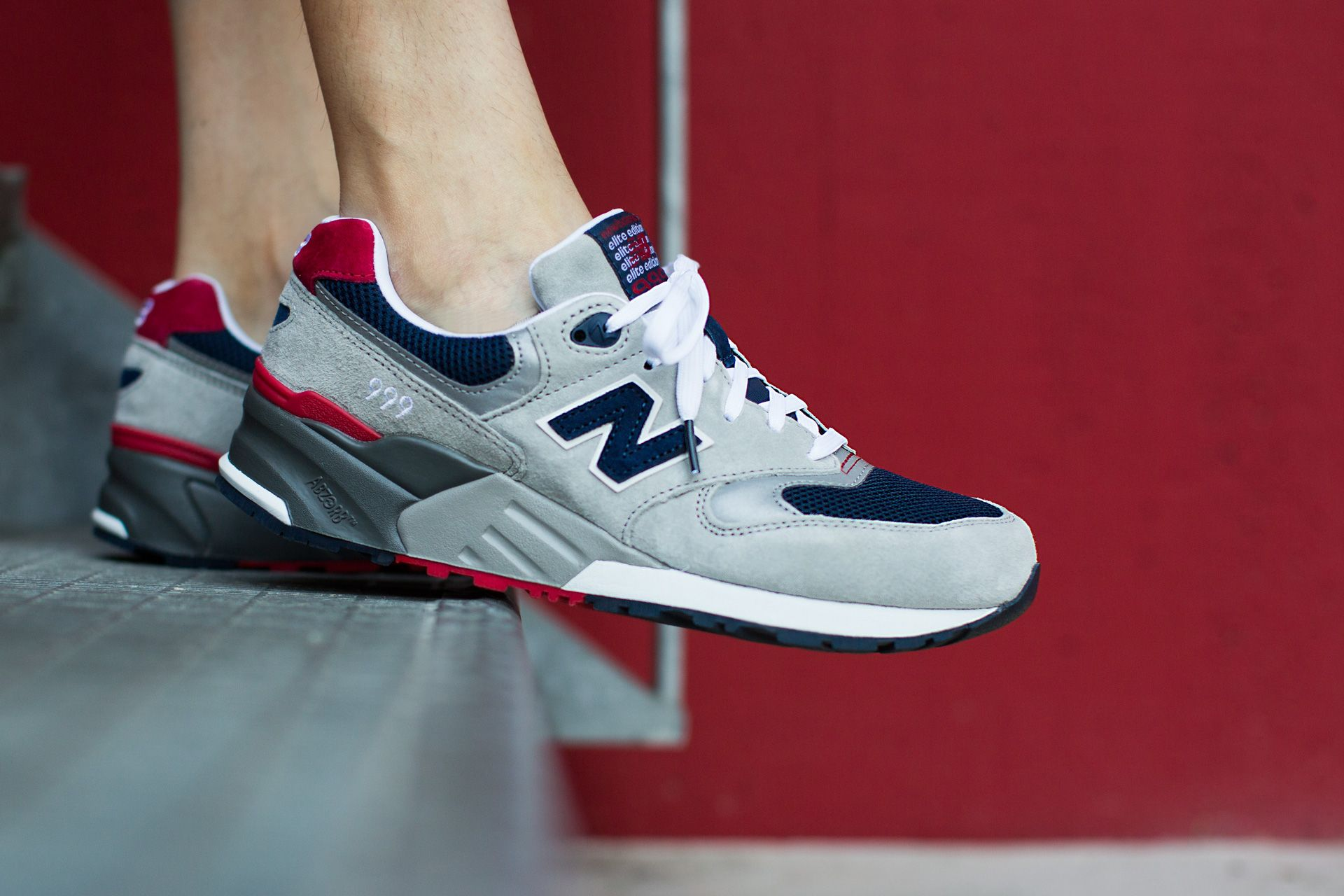 NEW BALANCE ML999 AE GREY/NAVY available at www.tint ...