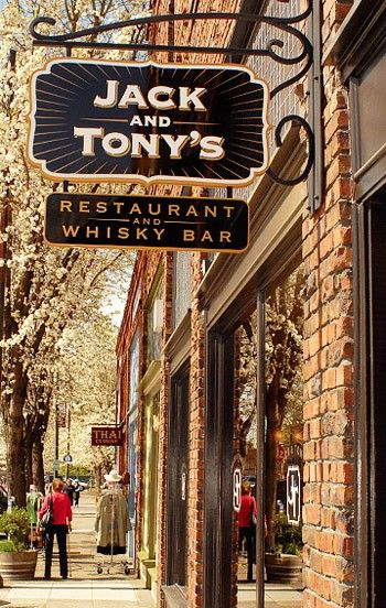 Jack Tony S Santa Rosa Ca Is The Most Recent Addition To Railroad Square Historic District Located In Heart Of Sonoma County Wine