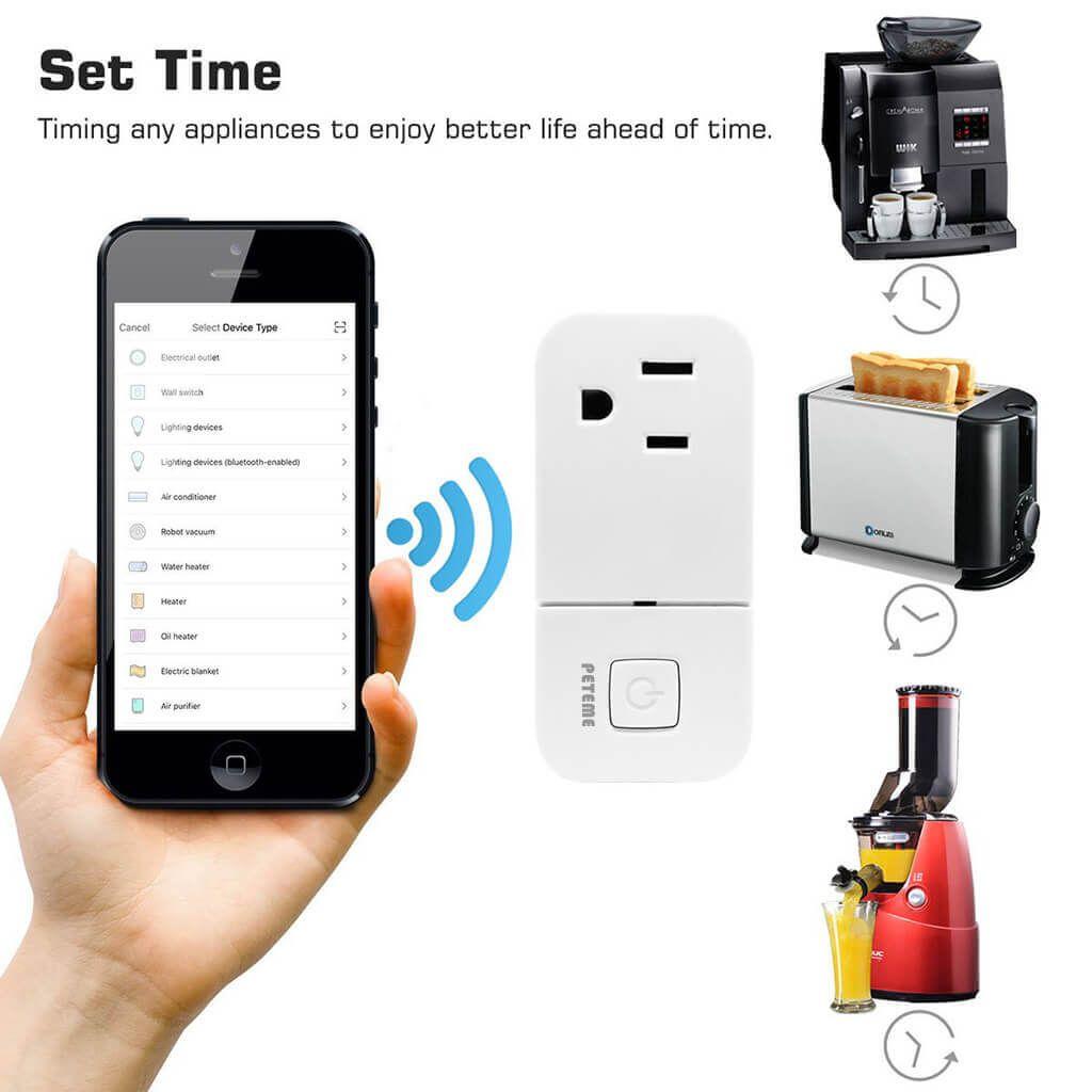 Peteme Smart Plug With Usb Charging Port Wifi Mini Socket