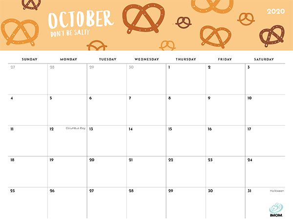 2020 and 2021 Foodie Printable Calendars for Moms - iMom ...