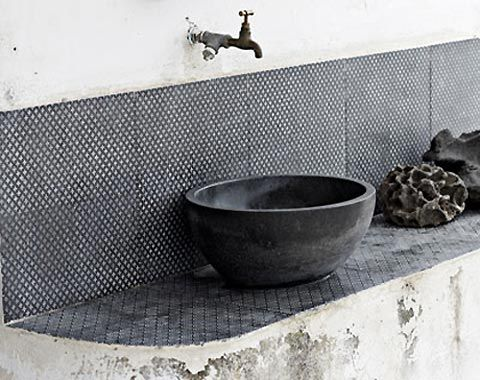 Tiles made from lava from world 39 s oldest active volcano - Made a mano piastrelle ...