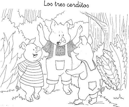 Dibujos Para Colorear Del Lobo Y Los Tres Cerditos Imagui Los